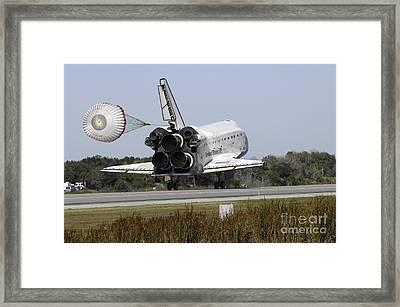 Space Shuttle Atlantis Unfurls Its Drag Framed Print by Stocktrek Images