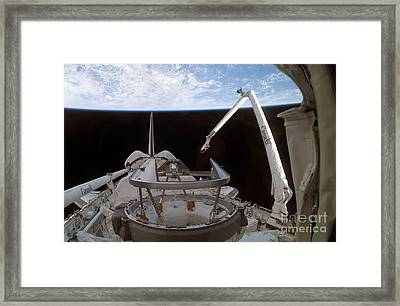 Space Shuttle Discoverys Payload Bay Framed Print by Stocktrek Images