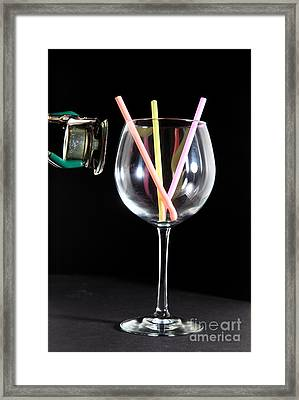 Speaker And A Glass With No Resonance Framed Print by Ted Kinsman