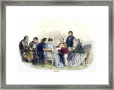 Spiritualism: Seance, 1853 Framed Print by Granger
