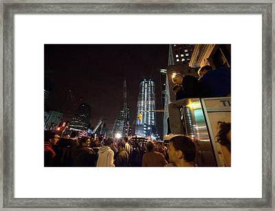 Spontaneous Demonstration At The World Framed Print