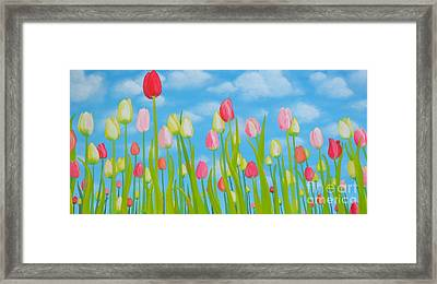 Spring Festival Framed Print by Holly Donohoe