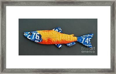 Spring Salmon Framed Print