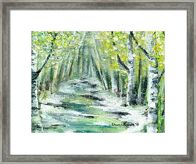 Framed Print featuring the painting Spring by Shana Rowe Jackson