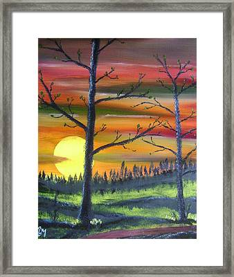 Framed Print featuring the painting Spring Sunrise by Charles and Melisa Morrison