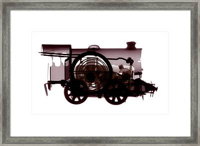 Spring Train, X-ray Framed Print by Neal Grundy