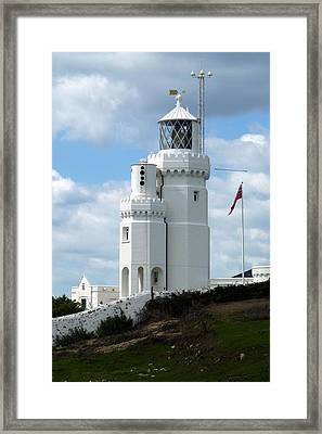 St. Catherine's Lighthouse Framed Print by Carla Parris
