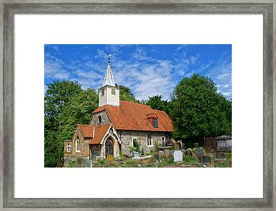 St Laurence Church Cowley Middlesex Framed Print