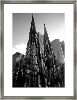 St. Patrick's Cathedral Framed Print by MikAn 'sArt