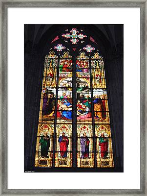 Stained Glass Window Framed Print by Suhas Tavkar
