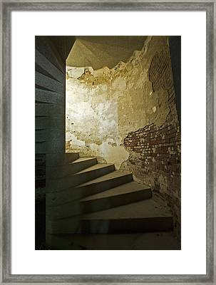 Staircase Down Into The Demilune Framed Print by Gordon Ripley