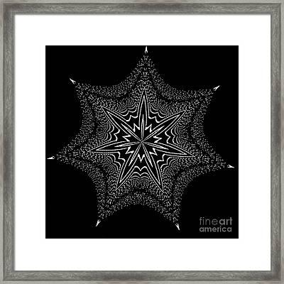 Star Fish Kaleidoscope Framed Print