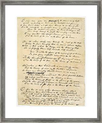 Star Spangled Banner 1814 Framed Print by Granger