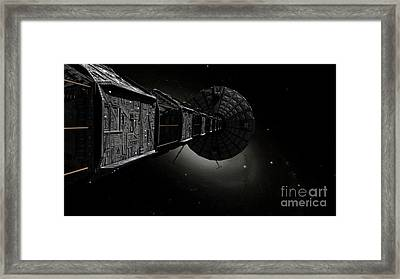 Starship Inspired By The Novels Framed Print by Rhys Taylor