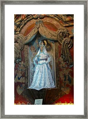 Statue Inside San Xavier Mission Framed Print