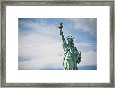 Framed Print featuring the photograph Statue Of Liberty by Theodore Jones