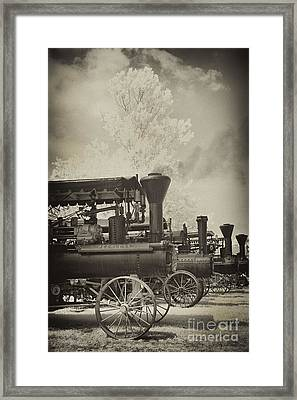 Steam Tractor Line-up Framed Print