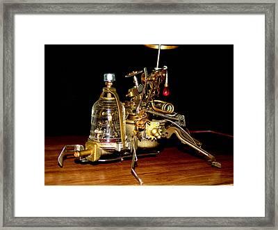 Steampunk Dalet Framed Print