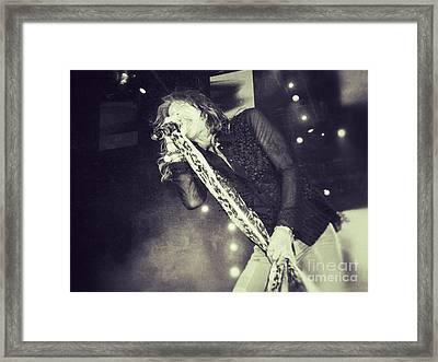 Steven Tyler In Concert Framed Print by Traci Cottingham
