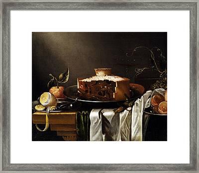 Still Life Framed Print by Abraham van Calraet