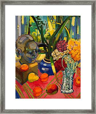 Still Life With Cut Glass Vase Framed Print
