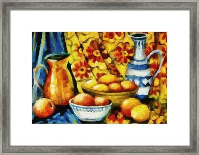 Still Life With Oranges Framed Print