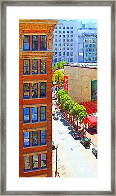 Stockton Street San Francisco . View Towards Union Square Framed Print by Wingsdomain Art and Photography