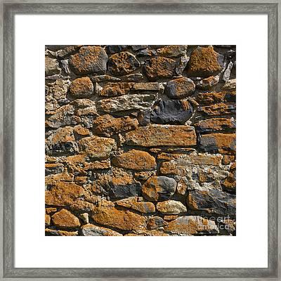 Stone Wall Framed Print by Bernard Jaubert