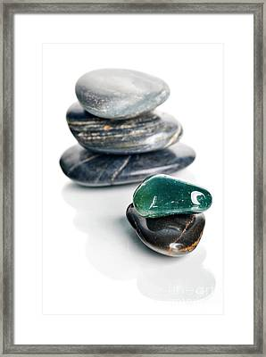 Stones Framed Print by HD Connelly