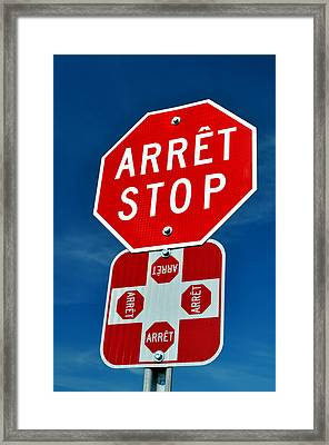 Stop Sign. Framed Print