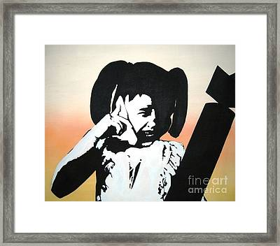 Stop The Bomb Framed Print by Jay Anthony Gonzales