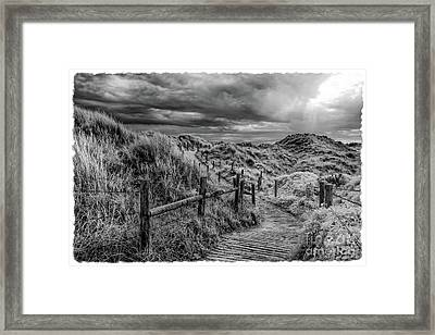 Stormy Sand Dunes - Infrared Photography Framed Print