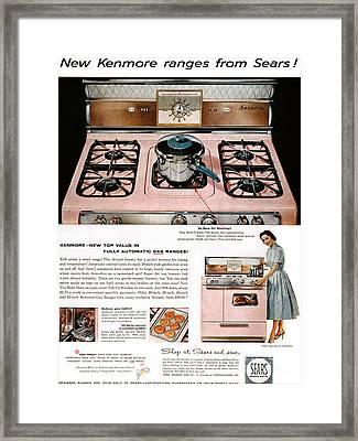 Stove Advertisement, 1957 Framed Print by Granger