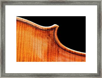 Framed Print featuring the photograph Stradivarius Back Corner by Endre Balogh