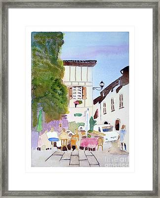 Street Cafe' Framed Print
