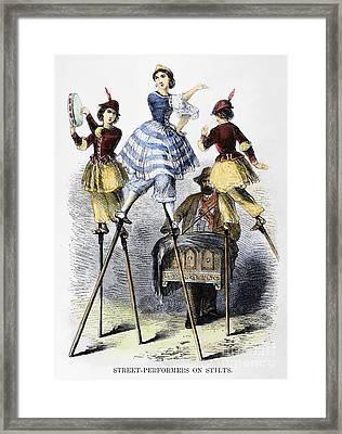 Street Performers Framed Print by Granger