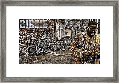 Street Phenomenon Biggie Framed Print by The DigArtisT