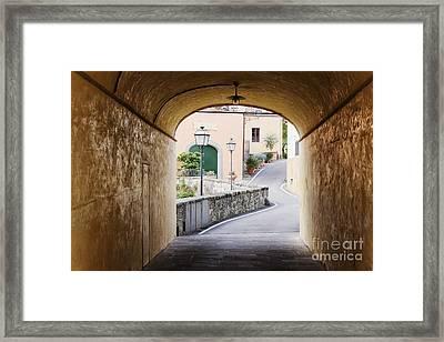 Street Scene Framed Print by Jeremy Woodhouse