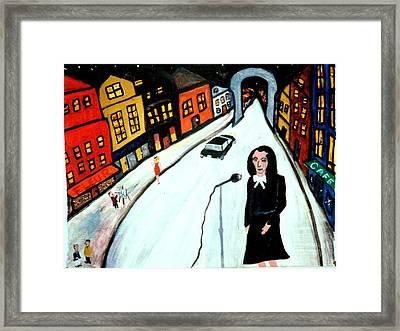 Street Singer Framed Print by Eliezer Sobel