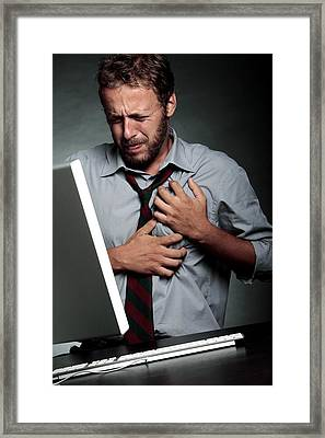 Stress-related Heart Attack Framed Print