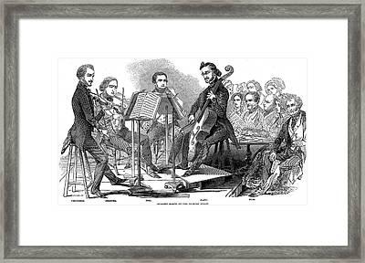 String Quartet, 1846 Framed Print by Granger