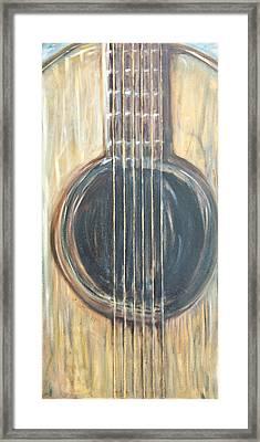 Strings Acoustic Sound Framed Print