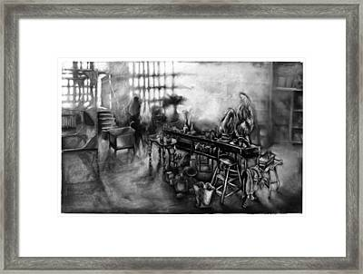 Studio Loft At Dawn Lic New York Framed Print by Al Goldfarb