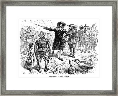 Stuyvesant At Fort Orange Framed Print by Granger