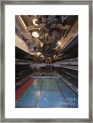 Submarine Torpedo Room Framed Print by Rob Tilley