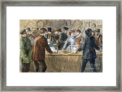 Suffrage: Woodhull Sisters Framed Print by Granger