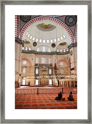 Suleymaniye Mosque Interior Framed Print by Artur Bogacki