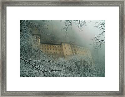 Framed Print featuring the photograph Sumela Monastery by Lou Ann Bagnall