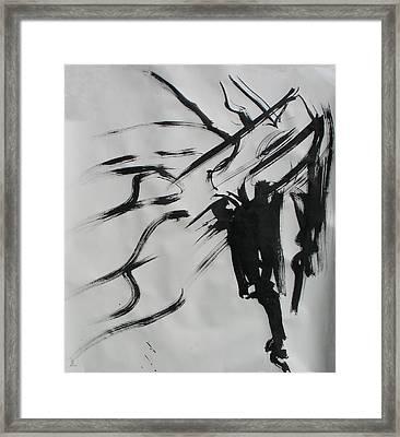 Sumi 4 Framed Print