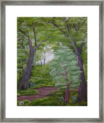 Framed Print featuring the painting Summer Morning by Charles and Melisa Morrison